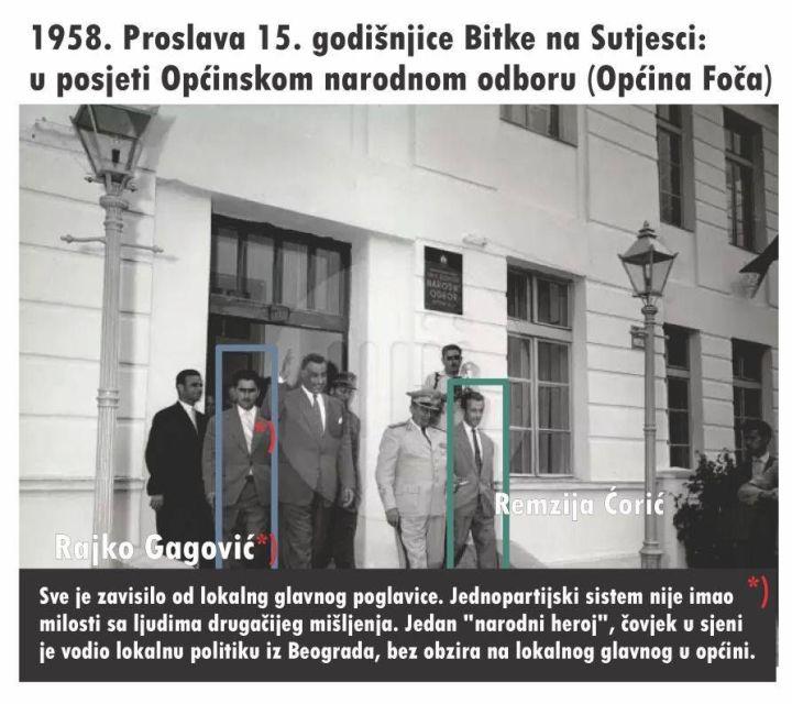1958 u posjeti Narodnom odboru - Općini Foča